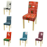 Strech Christmas Dinning Chair Cover Seat Cover Elastic Slipcovers Home Decor