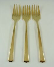 Vintage Dirigold Dirilyte Goldware Empress Flatware Silverware Salad Fork