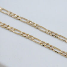 """BLOWOUT 18"""" FIGARO NECKLACE CHAIN 24K GOLD GB MUST SEE"""