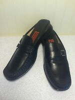 Women's Cole Haan City Slip On Loafers US 7.5 B Black Leather Casual Dress Shoes