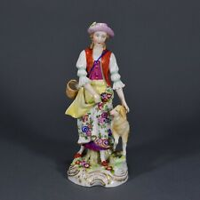 Schäferin mit Schaf Blumen Carl Theodor Marke Figur figure figurine Frankenthal