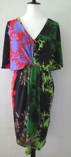 Small floral RANNA GILL stretch short sleeve dress  Anthropologie Women Size S