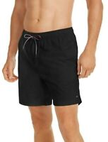 "Tommy Hilfiger Mens Designer 7""Solid Board Shorts Swim Trunks Blue Size S M L XL"