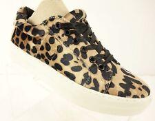 NEW REPORT Aioli Leopard Platform Sneakers Women's 6.5 Velvet Animal Print Shoes