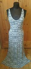 MISS SELFRIDGE size 10 Long Black & White Racer Back Maxi Dress!