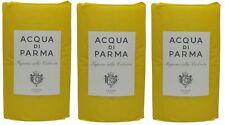 Acqua Di Parma Colonia Soap lot of 3 each 3.5oz Bars. Total of 10.5oz