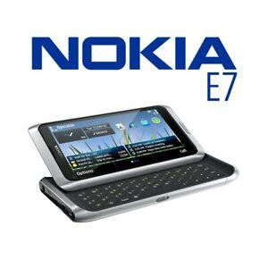 TELEFONO CELLULARE NOKIA E7 SILVER 3G WIFI HDMI TASTIERA QWERTY USATO.