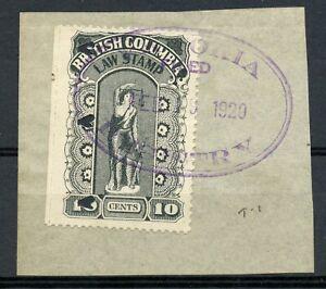 Weeda BCL22b VF used 10c black 1912-26 Fifth Series Law Stamp Revenue CV $40