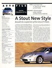 2000 Toyota Celica GT-S Original Car Review Print Article J607