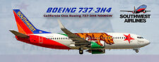 Southwest Airlines Boeing 737 California One Colors Photo Magnet (PMT1630)