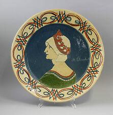 Dute, A., Teller Keramik Heilige Elisabeth D 42 cm 99845132