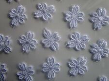 40 Spitze Blumen Applikation Aufnäher Creme Beige Borte Elegante 2,5cm N
