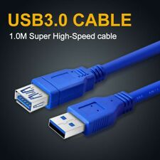 USB 3.0 A Male to USB3.0 A Female Flat Extension Data Charging Cable 100cm
