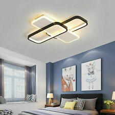 26W Modern LED Ceiling Light Dimmable Chandeliers Fixtures 3 Color Living Room