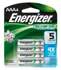 Energizer Rechargeable AAA Batteries.  Pack of 4 Batteries
