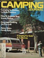 Camping Journal Sept 1973 Vtg Magazine California Gold - Quebec LaBelle - VG