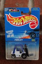 Hot Wheels Blue Card ForkLift 1996 642 New white factory 5 spoke