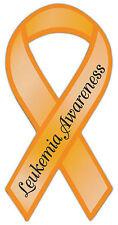 Ribbon Shaped Awareness Support Magnet - Leukemia - Cars, Trucks, Refrigerator