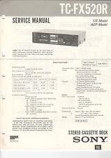 Sony Service Manual la raccolta tc-fx505r/fx520r - b2052