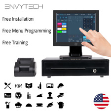 "12"" Touchscreen POS System for Restaurant POS Cash Register Till Catering Pizza"