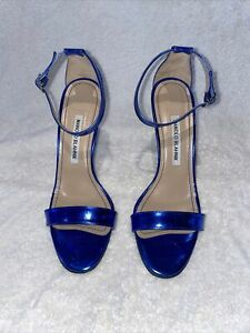 manolo blahnik 38 blue sandal