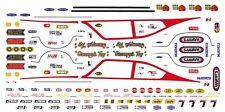 Bill Jenkins Grumpy's Toy VEGA 1/32nd Scale Slot Car Decals