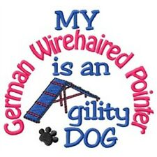 My German Wire 00006000 haired Pointer is An Agility Dog Short-Sleeved Tee - Dc1900L