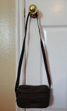 BROWN Padded Women's Handbag Purse Over Shoulder Bag 2 Compartment