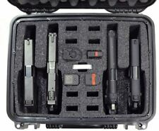 Airline Approved Pistol Case Gun Firearm Weapon Ammo Storage Foam Box Waterproof