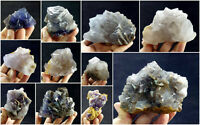 Fluorite Specimens Lot Natural Purple Blue Cubic Formation Crystals 4.8kg 11Pcs