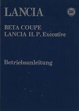 LANCIA  BETA COUPÉ 1300 1600 2000 Betriebsanleitung 1982 H.P. Executive 2000 BA