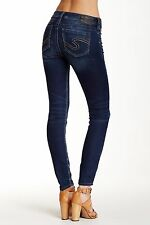 NWT Women's SILVER JEANS Mid Rise Tuesday Super Skinny Joga Stretch Jean 33 X 31