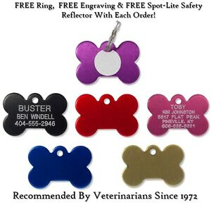 Small Bone Shape Pet ID Dog Name Tags-Custom Engraved Tag With Up To 5 Lines