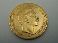 20 Mark 900 Gold Münze Wilhelm II König von Preussen 1894 A Kaiserreich  J252
