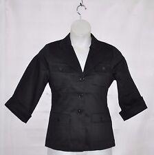 Linea by Louis Dell'Olio Stretch Sateen Blazer Size 1X Black