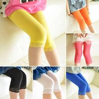 New Girls summer Lace Shorts children Dance Velvet Leggings Pants Stockings