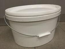 Eimer mit Deckel Farbeimer weiß 15 Liter Oval Lebensmittelecht Leereimer 15l