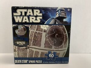 """Star Wars Death Star 3D Plastic 6"""" Sphere Puzzle **Complete**"""