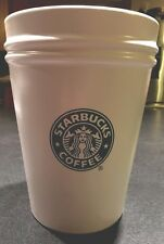 LARGE STARBUCKS COFFEE CO.CANISTER AIR TIGHT LID COOKIE JAR/Biscotti Barrel.2000