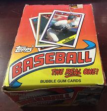 1988 Topps Baseball Unopened Wax Box 36 Sealed Packs Grace Glavine  RC's