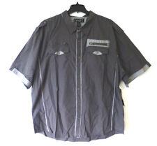 G-Net Mens Size 4XL Grey w/ Black Plaid Accents Button Down Shirt New