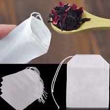 100pcs Empty Woven Tea Bags Drawstring Reusable Bags Packing Bath Soap Herbs Tea