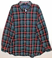 Polo Ralph Lauren Big Tall Mens Green Plaid Flannel Button-Front Shirt NWT 3XB