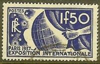 "FRANCE TIMBRE STAMP N° 327 "" EXPOSITION INTERNATIONALE PARIS 1F50 "" OBLITERE TB"