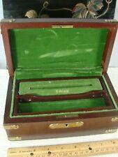 Vintage Parker Pen Wooden Compartment Box Chest Storage Rare