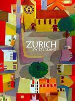 Zurich Switzerland Swiss European Europe Travel Advertisement Art Poster