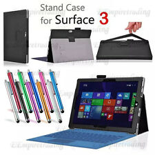 Folio Cover Durable PU Leather Case For Microsoft  Surface 3 10.8 Inch Tablet