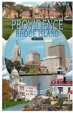 Providence Rhode Island Montage Downtown Capitol Lighthouse etc- Modern Postcard