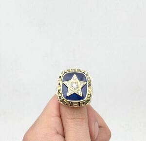 1970 DALLAS COWBOYS Super Bowl NFC Championship Ring (RARE) 18k GP Size 11 (USA)