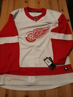 NWT Adidas NHL Detroit Red Wings Hockey Jersey White CA7085 Size 46 Small